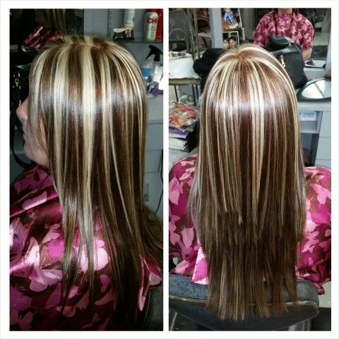 Blonde Highlights With A Copper Brown Base Color Blonde