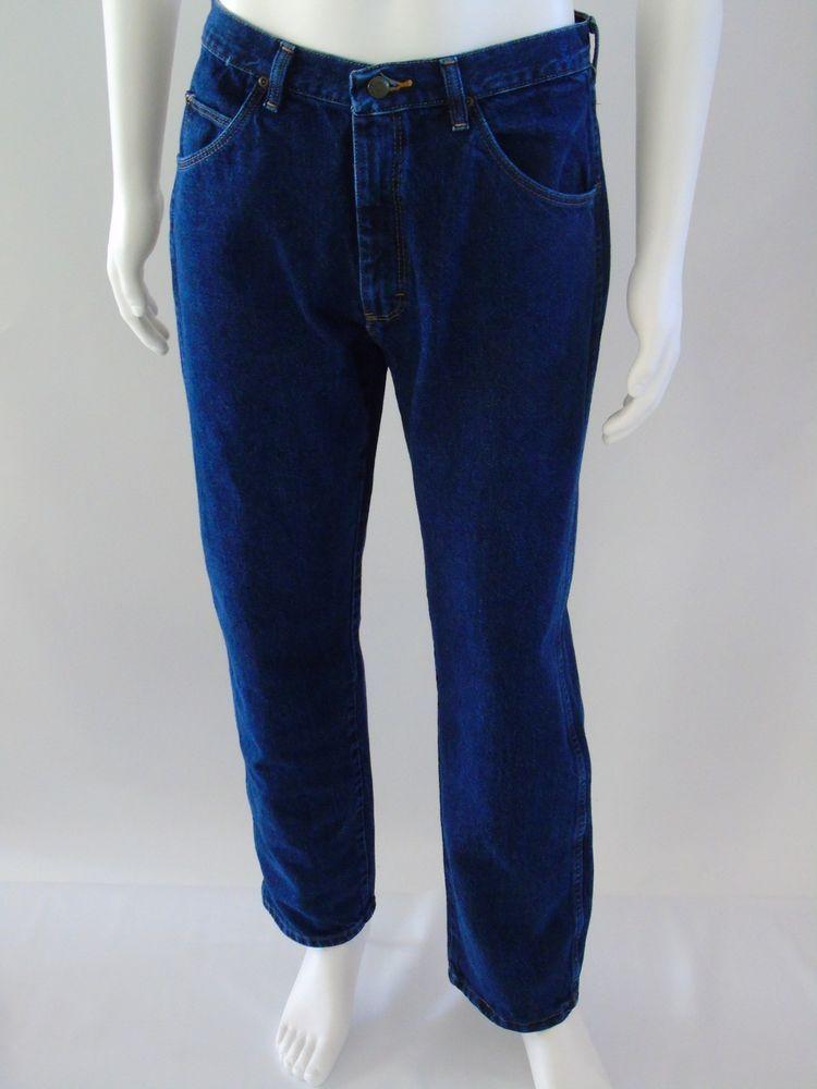 3f099bcdab WRANGLER Classic Western Denim Cowboy Jeans Straight Leg Dark Wash Men Sz  32x30  Wrangler  ClassicStraightLeg