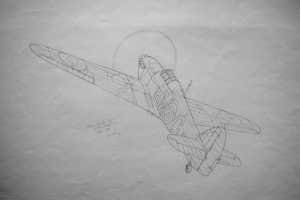 Hawker Hurricane (Pencil Sketch)