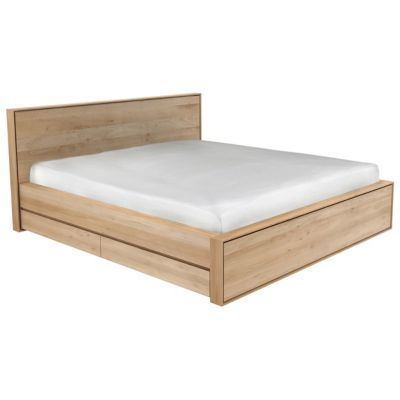 Designed With The Intent To Serve Functionality And Beauty The Oak Nordic Ii Storage Bed Features Smoot Lit 160x200 Avec Rangement Idees De Lit Canape En Bois