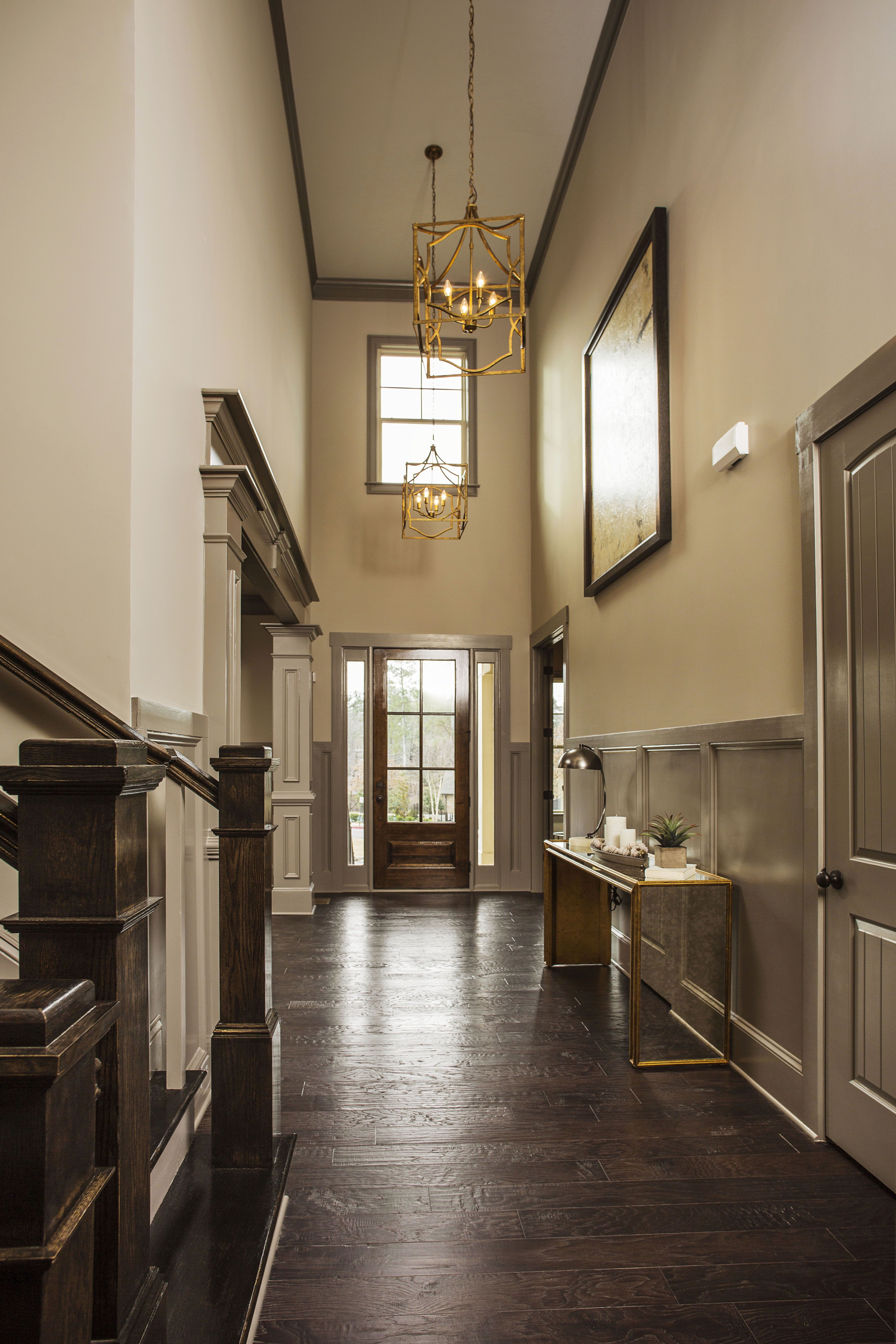 High ceiling entryway featuring gorgeous chandeliers dogwood model high ceiling entryway featuring gorgeous chandeliers dogwood model manor north via edward andrews arubaitofo Images