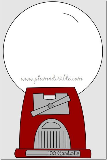 100th Day Of School Project Gumball Machine Child Care Ideas