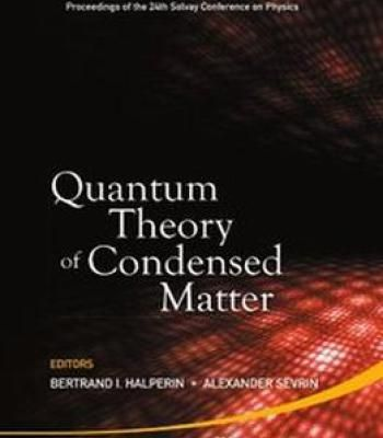 Condensed Matter Physics Pdf