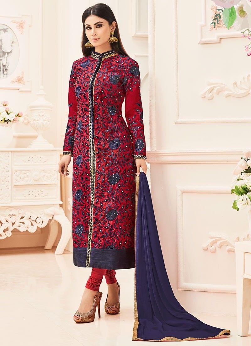 a6b56165a04 Shop Online Maroon Silk  AchkanSalwarSuit Latest Party Wear Suits