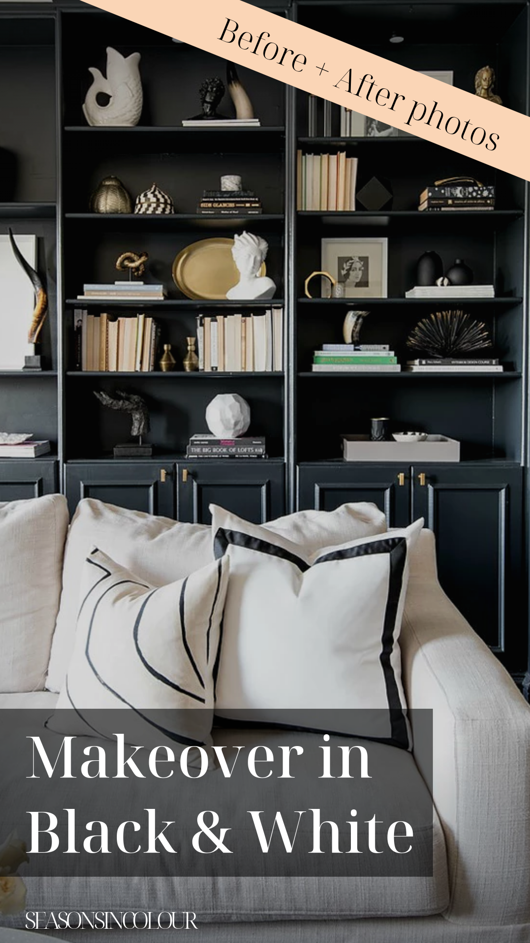 Parisian Makeover In Black And White Shannon Claire Interiors Interior Dark Interiors Decorating Blogs