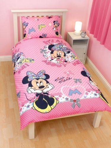 Disney Minnie Mouse Shopaholic Rotary Single Bed Duvet Quilt