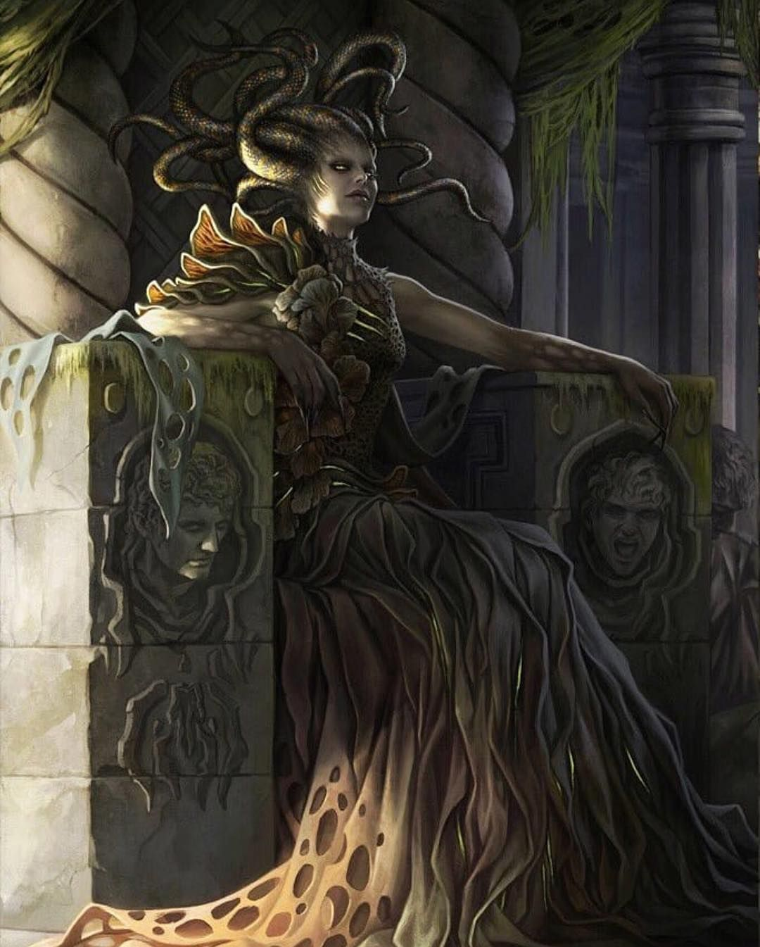 Image result for vraska, golgari queen art