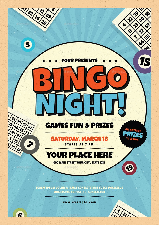 Bingo Night Event Flyer Affiliate Night Ad Bingo Flyer Event Bingo Night School Event Poster Bingo