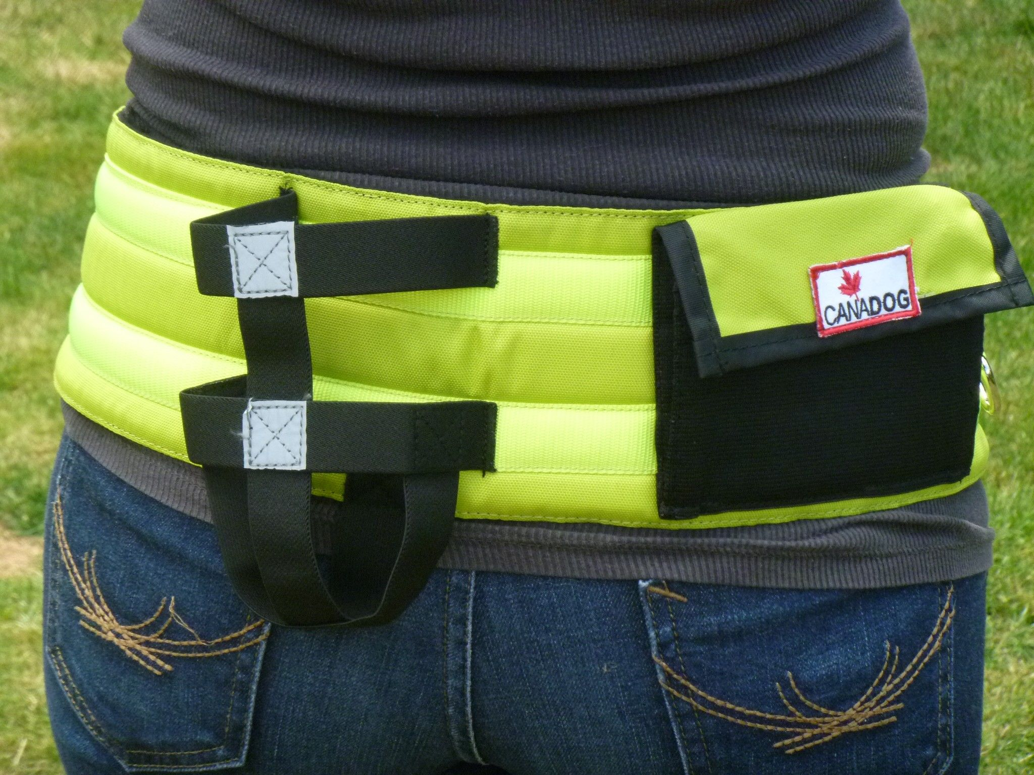Deluxe Walking Belt with Pocket and Water Bottle Holder - Florescent Yellow