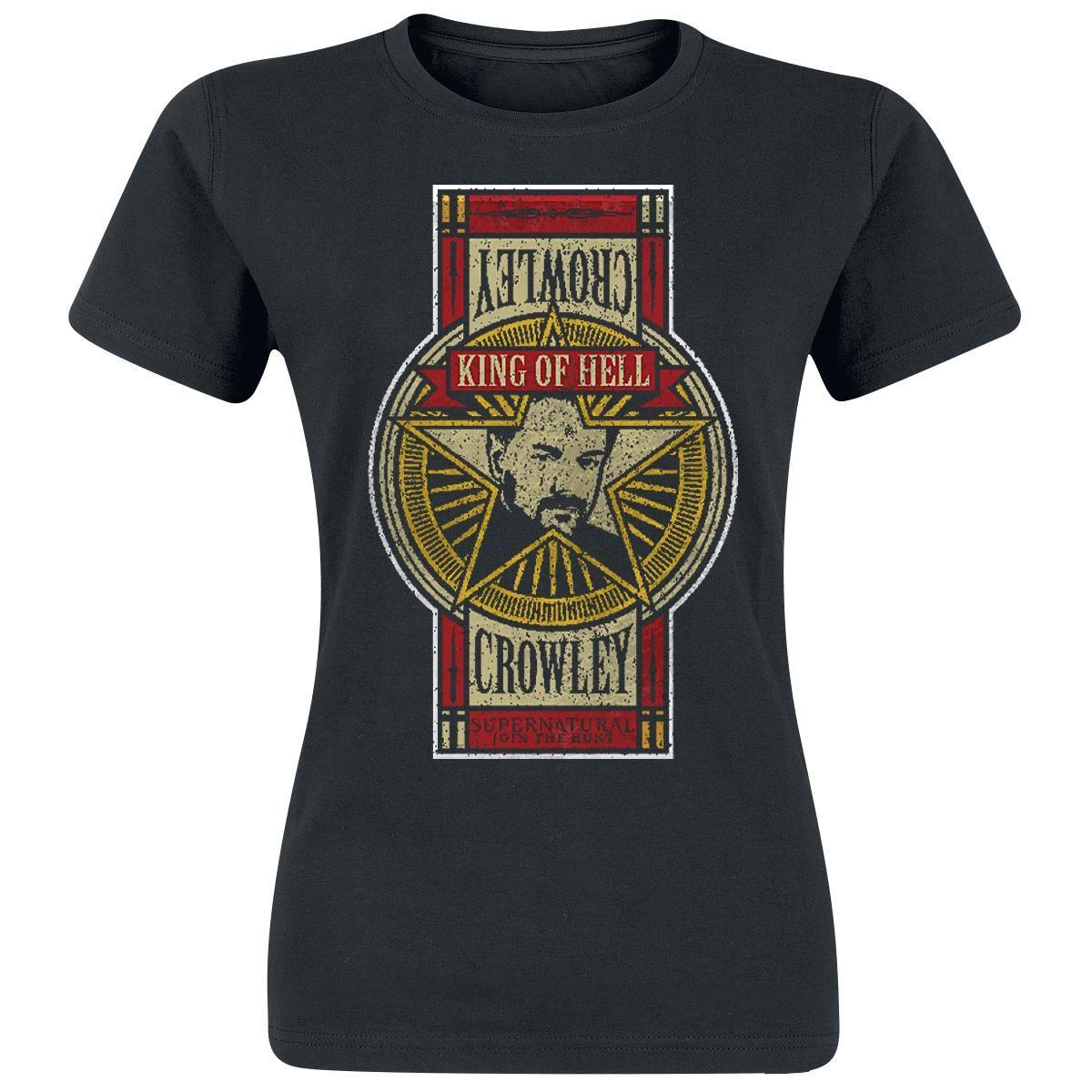Crowley - T-Shirt Manches courtes par Supernatural
