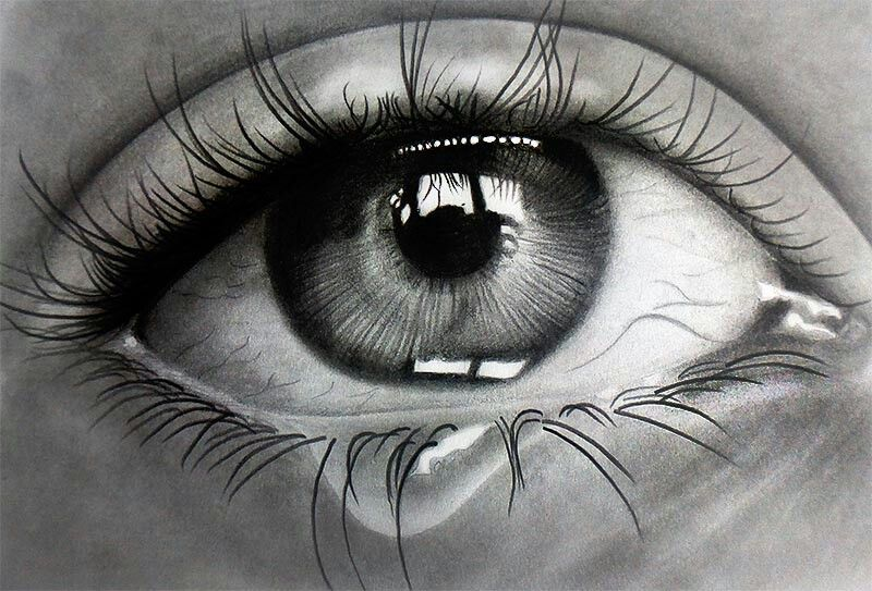 Pencil drawing of eyes crying images pictures becuo