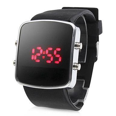 a4f6ed4e0c67 Reloj de Muñeca LED Digital Unisex Rojo con Correa de Silicona - USD   3.49