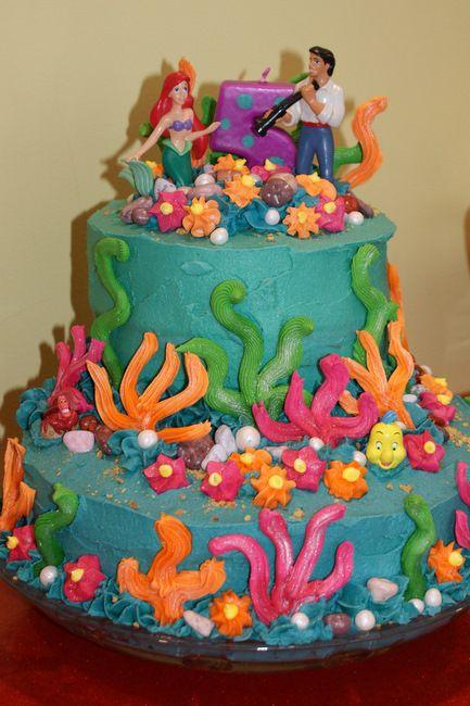 Ariel Birthday Two Tier Ariel Little Mermaid Bday Cake