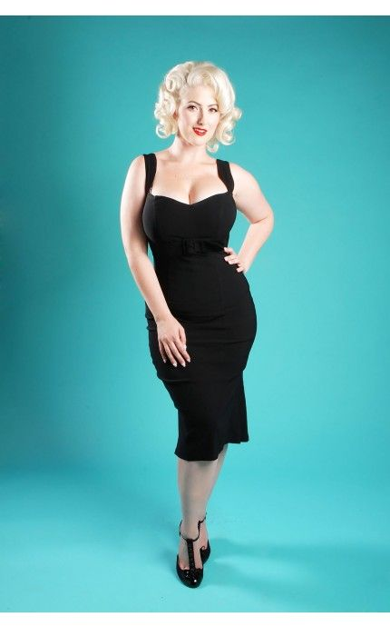 Jessica Wiggle Dress In Bombshell Black Dresses Clothing Pinup