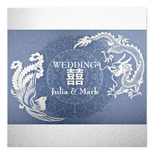 modern dragon phoenix chinese wedding invitation x invitation card