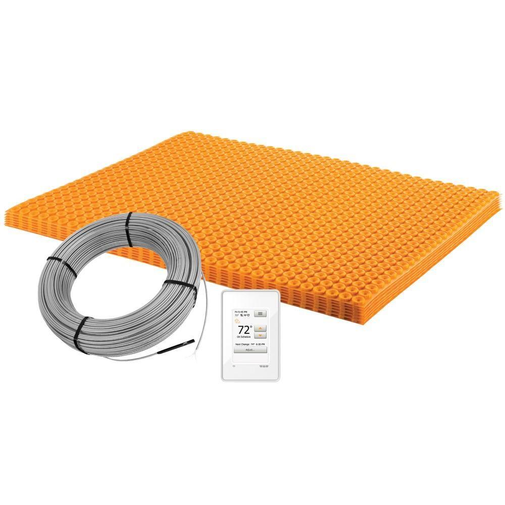Schluter Ditra Heat 43 1 Sq Ft Electric Floor Warming Kit Wi Fi Thermostat Dhekrtw12040 Floor Decor Kit Warm Tiles