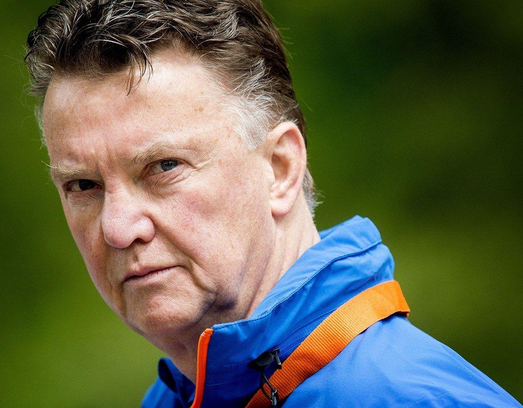 Louis Van Gaal, coach van het Nederlands elftal voor Brazilië.