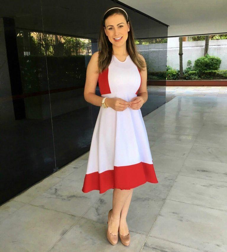 Vestido godê rodado com cinto moda primavera verão 2019