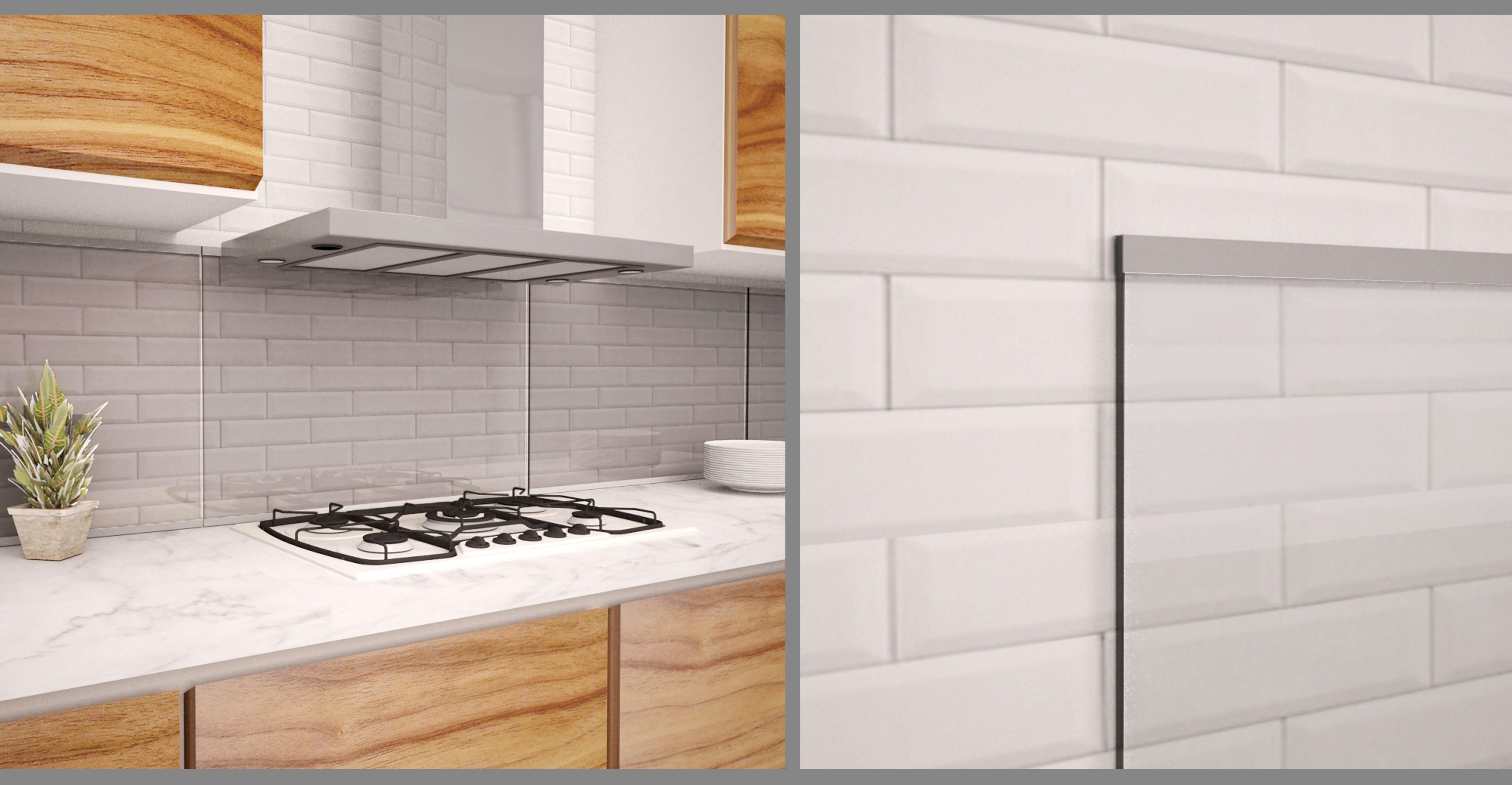Glass Backsplash With Aluminum Trim Glass Backsplash Modern Backsplash Glass Cabinet Doors