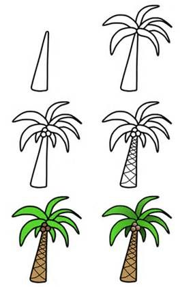 How To Draw A Tree Palm Palm Tree Drawing Tree Drawing Simple Tree Drawing