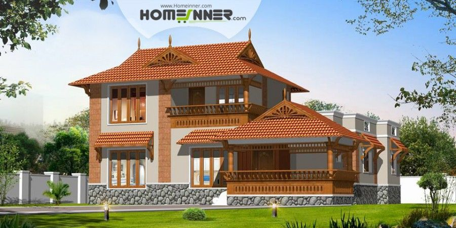 searching for 1959 sq ft sloping roof kerala style home exteriorthen here is a kerala veedu design architectural style design from homeinner 3 bedroom hou - 1959 Home Design