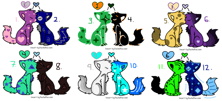 Adopt as many as you want 1,12,10 are mine | Adoptables