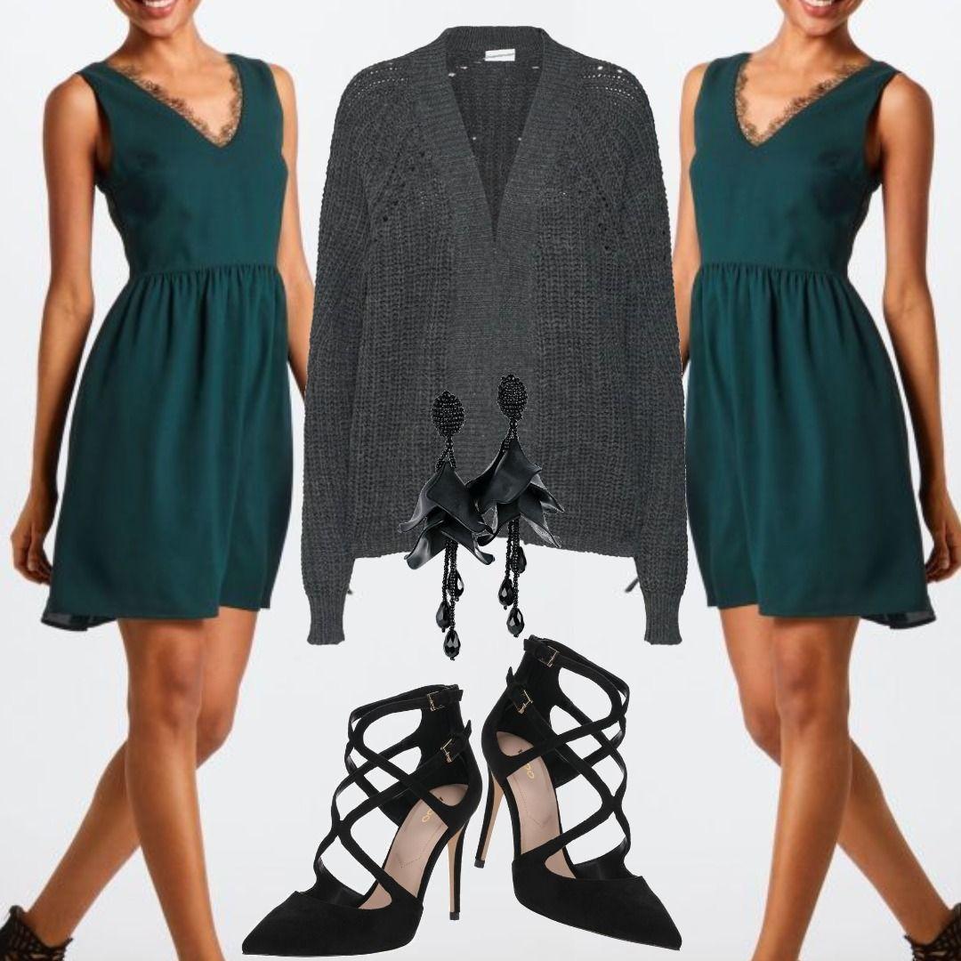ABOUT YOU Kleid Livia tanne Grün Outfit für Damen zum Nachshoppen