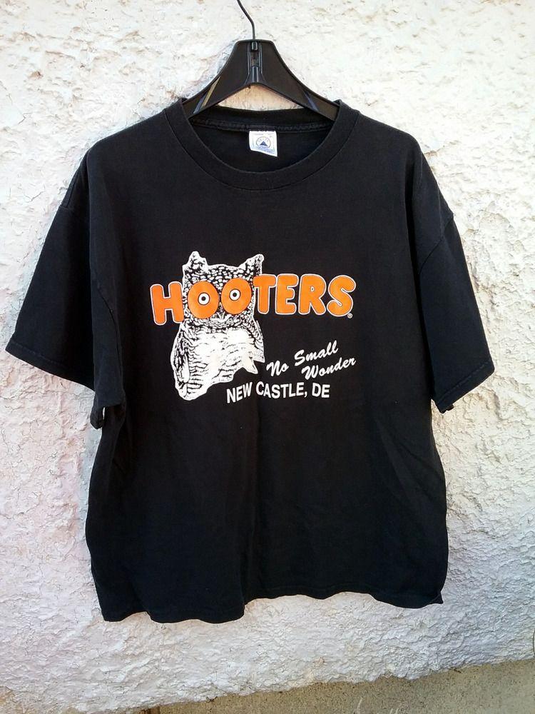 2299e2af2380 Hooters T Shirt Mens XL Black New Castle Delaware  Delta  GraphicTee ...