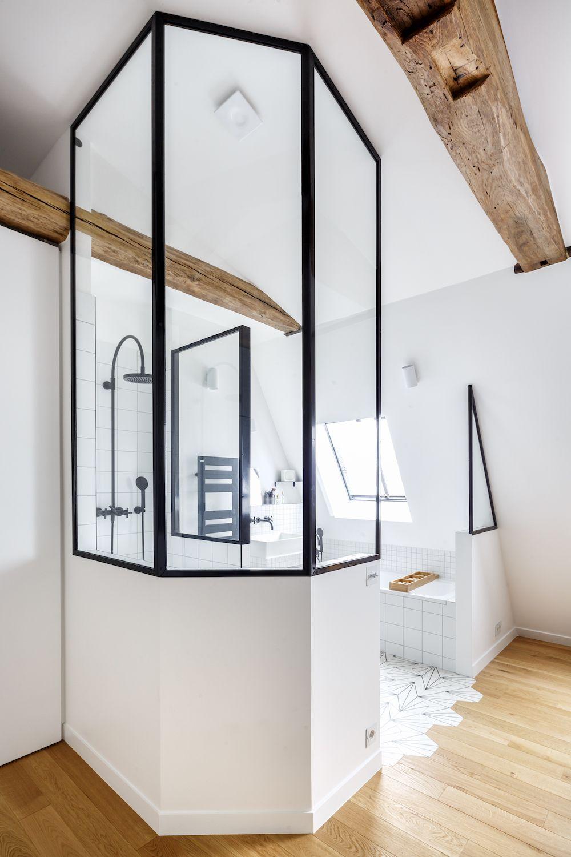Verrière de salle de bain réalisée sur-mesure par un de nos