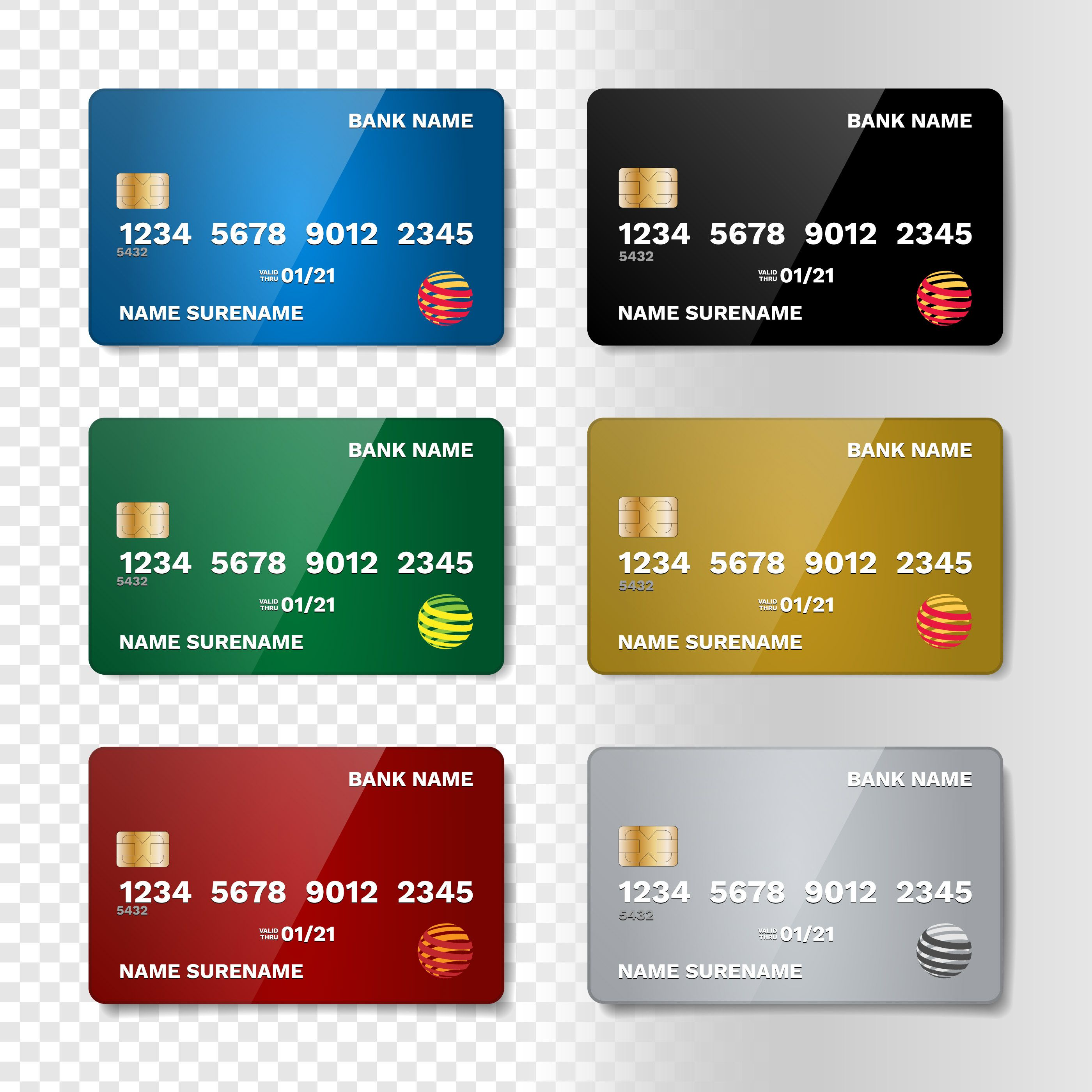 Credit Card Business Card Template In