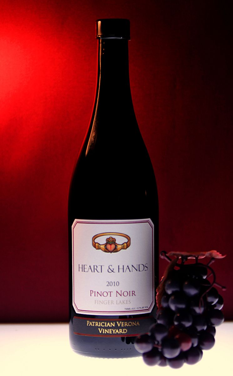 Heart Hands Wine Company Patrician Verona Vineyard Pinot Noir Finger Lakes Pinot Noir Wine Bottle New York Wineries