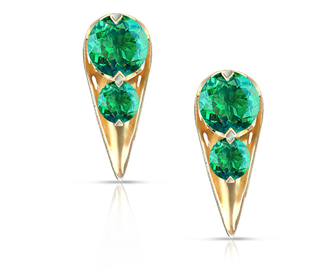 Acari Collection. Green Topaz Earrings.