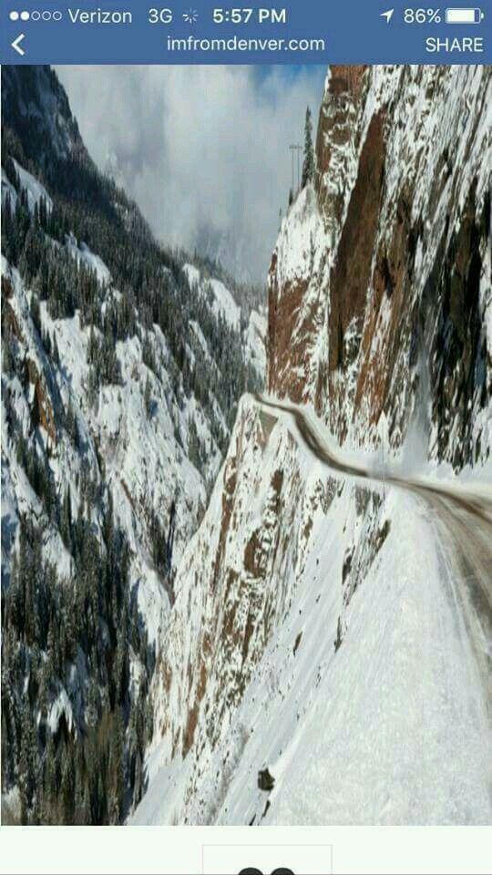 Red Mountain Pass Colorado Usa No Guard Rails Nursing