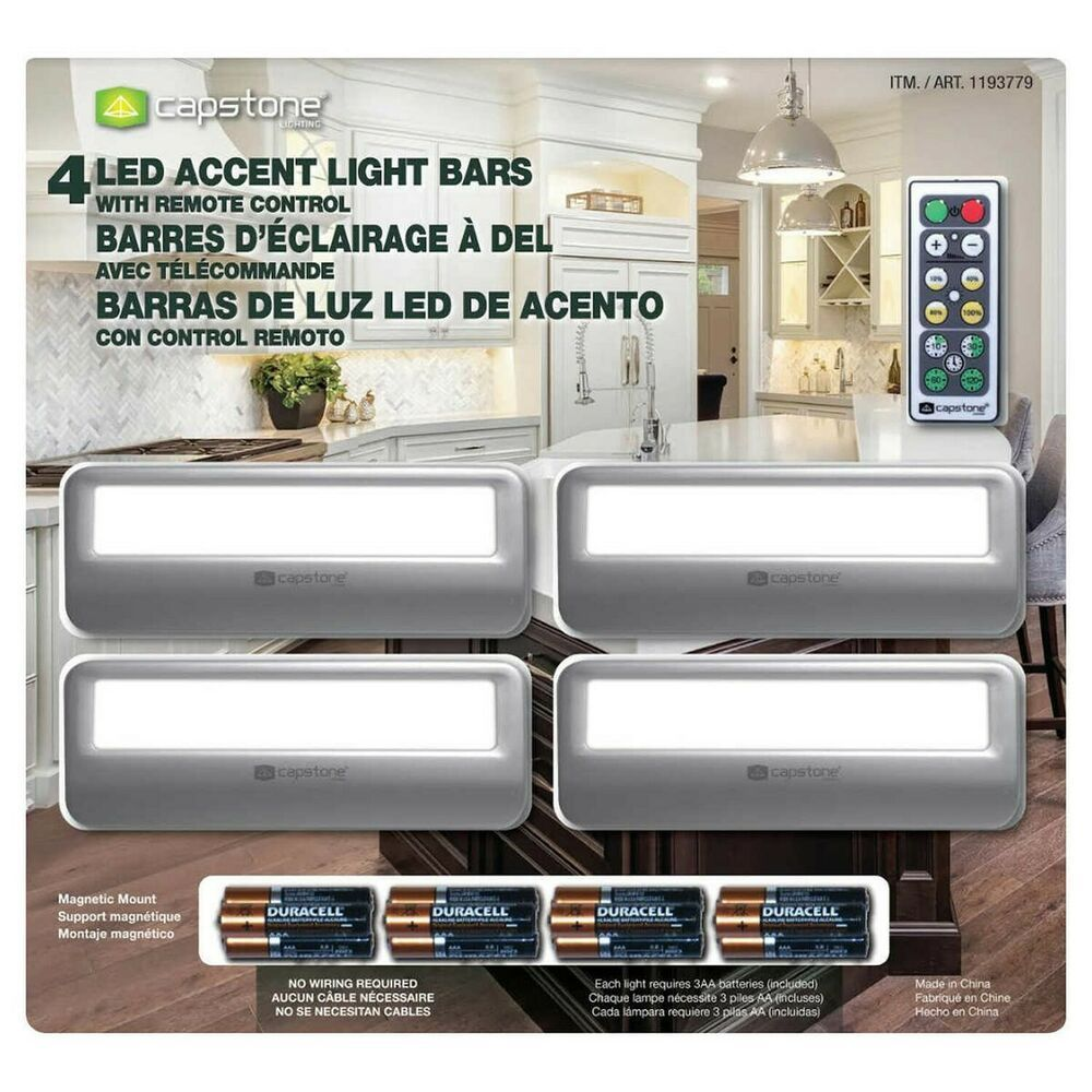 Capstone Led Accent Light Bars 4 Pack Remote Control Dimmer Switch Free Shippin Capstone Bar Lighting Led Accent Lighting Accent Lighting