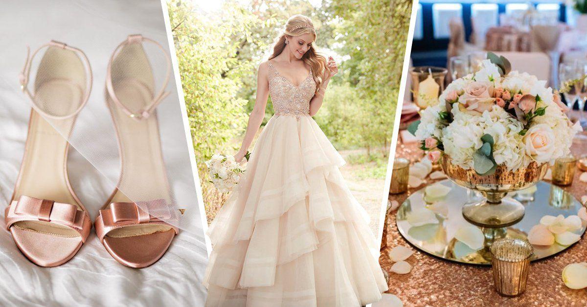 15 Hermosas razones para tener una boda con tema 'rosa dorado'  – Boda