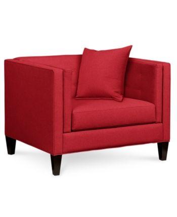 Tremendous Braylei 43 Fabric Armchair Created For Macys Devon Creativecarmelina Interior Chair Design Creativecarmelinacom