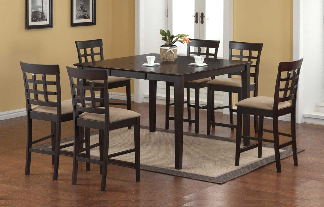 Rubberwood Butterfly Table With 4 Chairs Leg Tips For Augusta Pub Dining Set Solid Height Leaf And Microfibre Seat