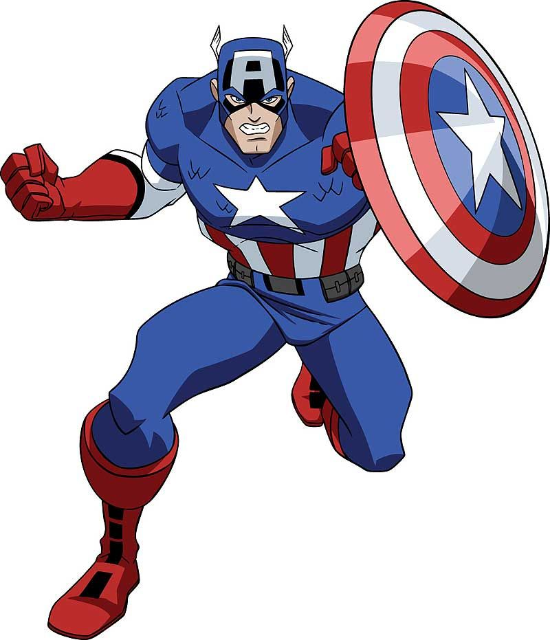 Vingadores Desenho Capitão América