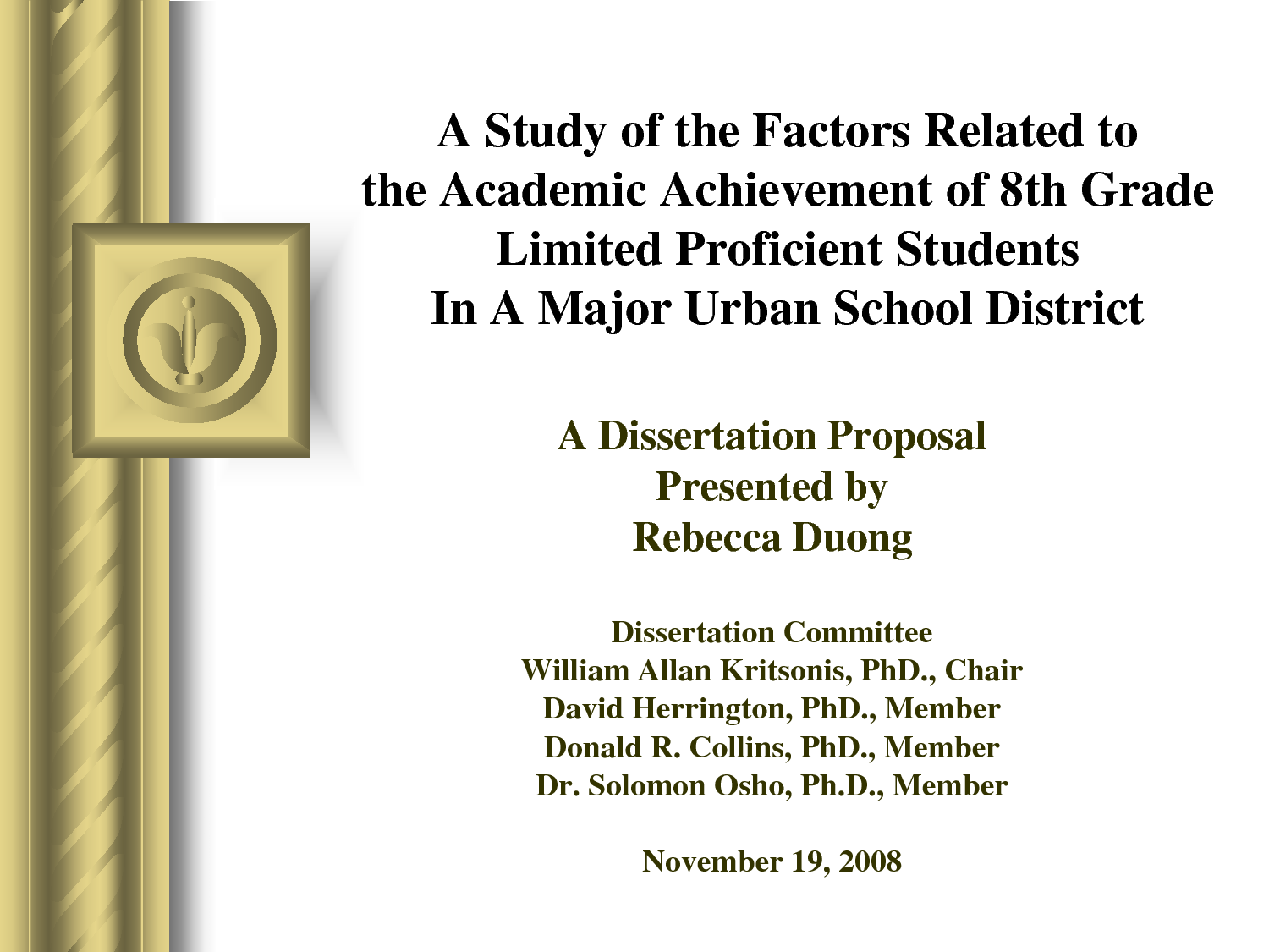 Defending dissertation proposal