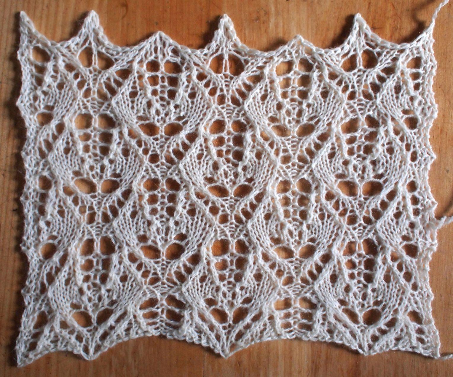 Knitting Lace Patterns Free : Heatwave a free lace knitting stitch pattern