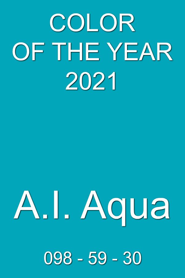 A.I. Aqua (Artificial Intelligence) Color of the Year 2021  ss2021  trendcolor