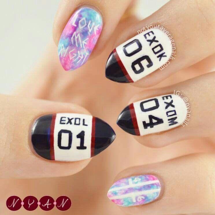 Pin by Park Jisa on Kpop Nails Art | Pinterest | Korean nail art and ...