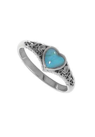 797567a76 Boma Sterling Silver Turquoise Heart Ring.More info for nice rings for  her;ring design for female;rings for girls;diamond ring for girl;designer  rings could ...