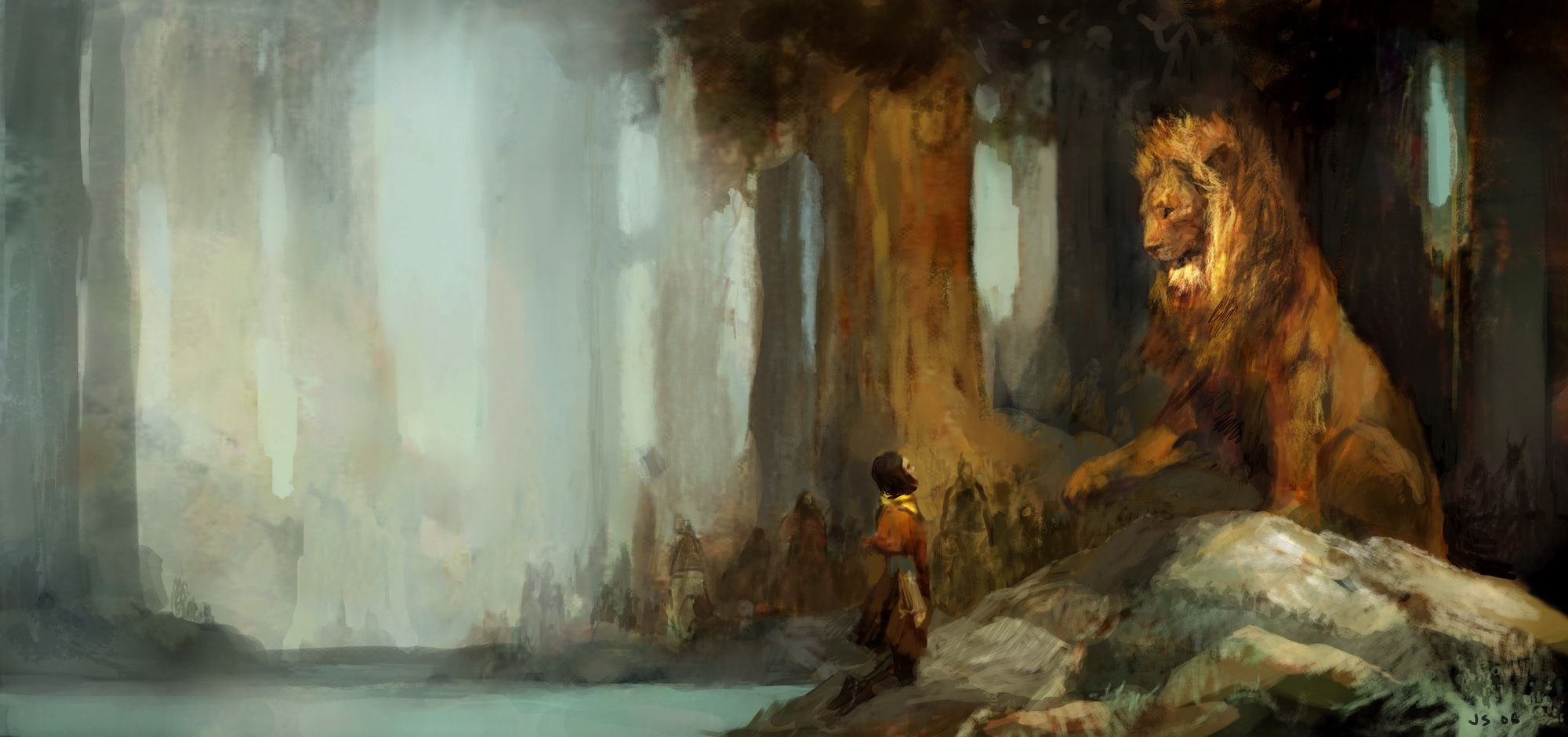 Narnia Concept Art by Justin Sweet
