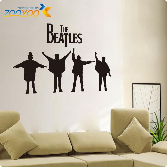 The Beatles Rock Music Poster Wall Decals Removabl Vinyl