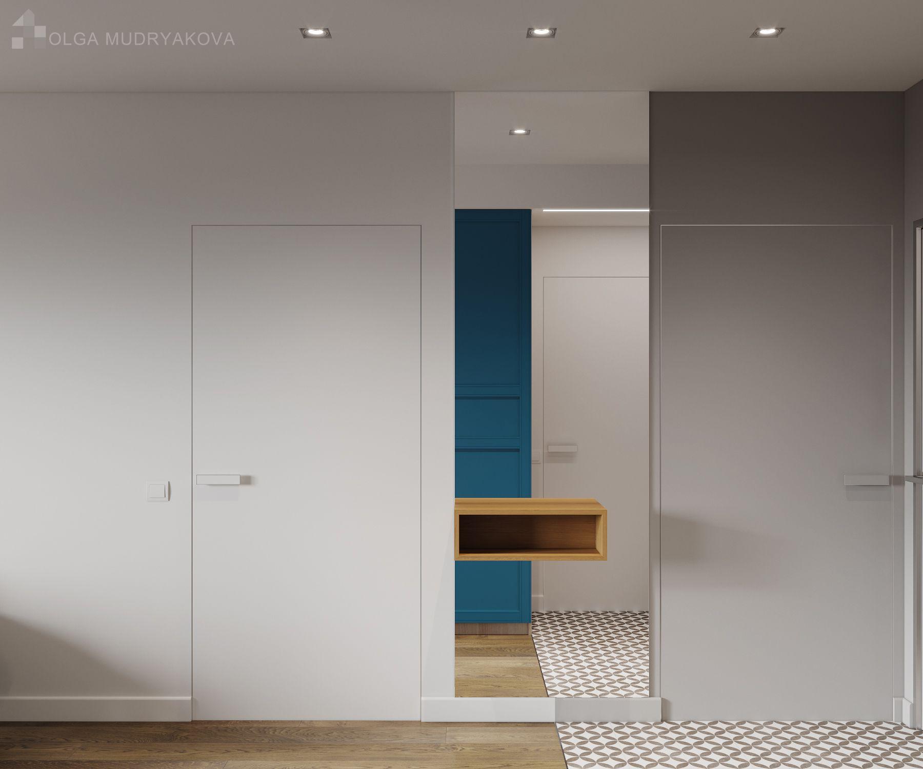 Скрытые двери в прихожей: оригинальная идея для маленькой комнаты