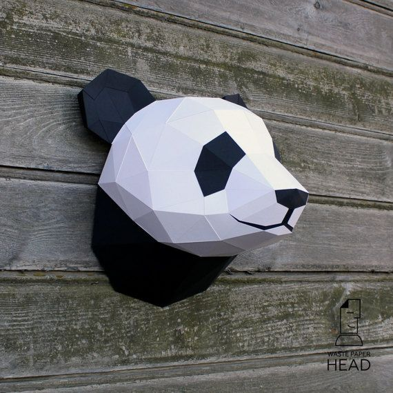 With this template you can make your own paper panda head size 6 with this template you can make your own paper panda head size 6 maxwellsz