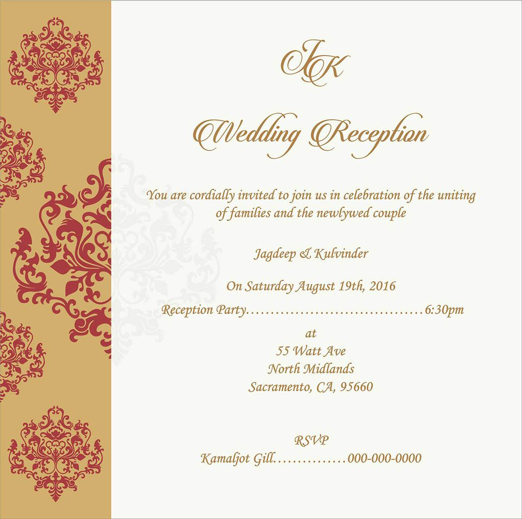 Wedding Invitation Wording For Reception Ceremony  Wedding