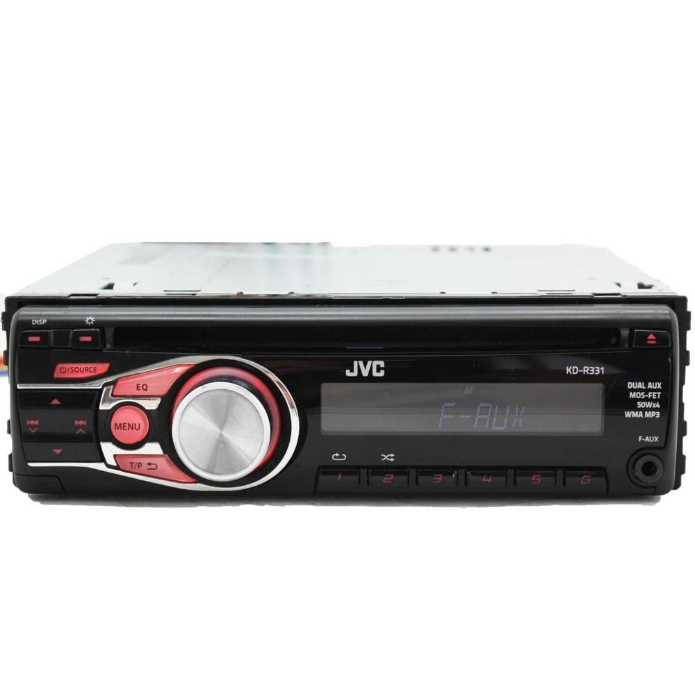 JVC KD-G331 Car Stereo CD Player Head Unit Front+rear Aux