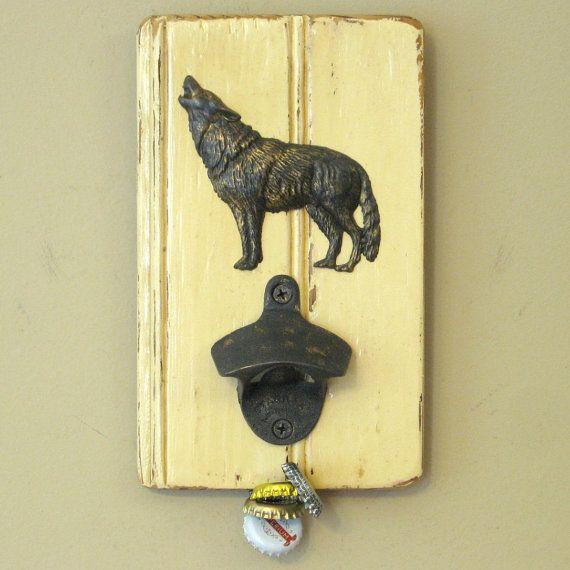 """4.75/"""" Wolf Cold Cast Bronze Home Organization Wall Hook Hanger"""